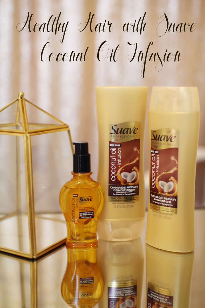Easy Tips for Healthy Hair with Suave Coconut Oil Infusion from fashion, lifestyle, and beauty blogger Little Tree Vintage.